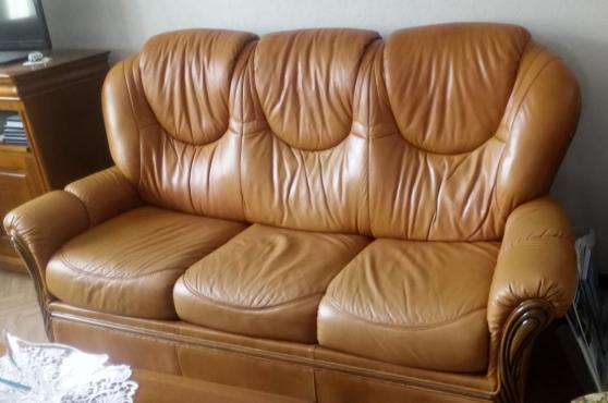 Annonce occasion, vente ou achat 'Salon cuir vachette couleur pigmenté'