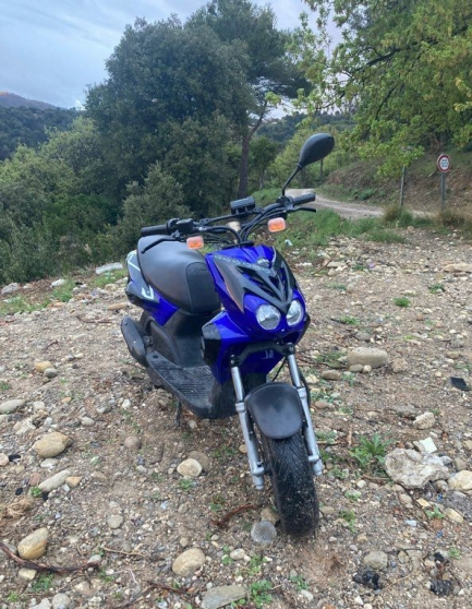 scooter mbk stunt bleu unique