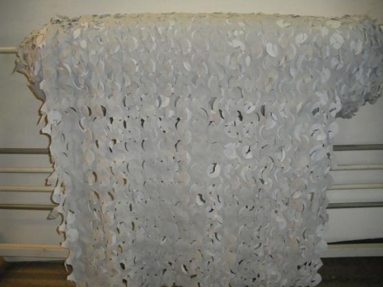 Filet camouflage blanc 156m2 rouleau com
