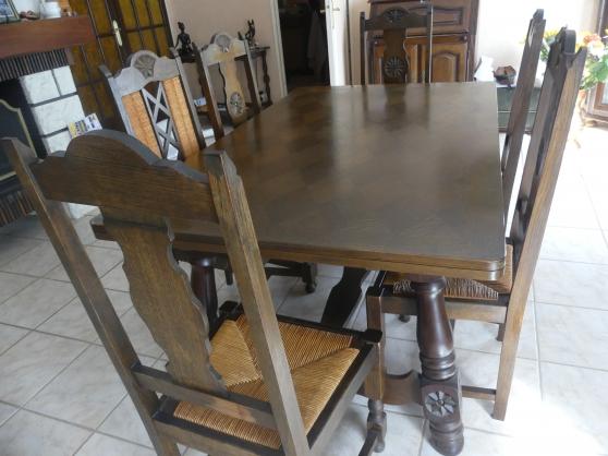 Table Chaises Lustre Basque en Chêne