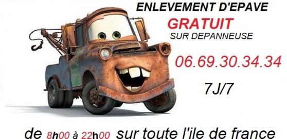 enlèvement d'épave gratuit sur idf - Annonce gratuite marche.fr