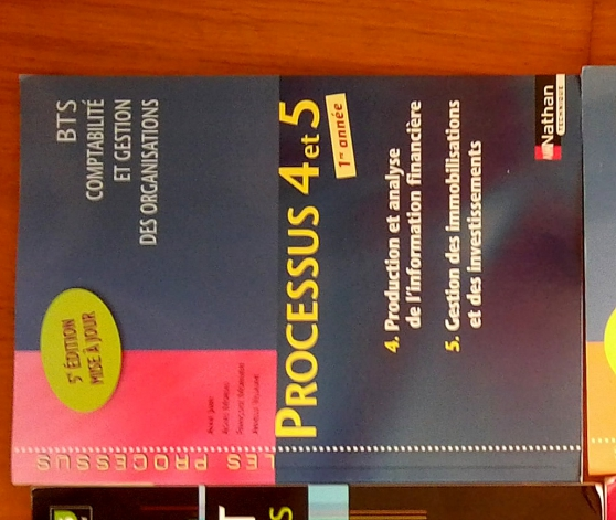 Annonce occasion, vente ou achat 'Livre Processus 4 et 5 BTS 1ère année'