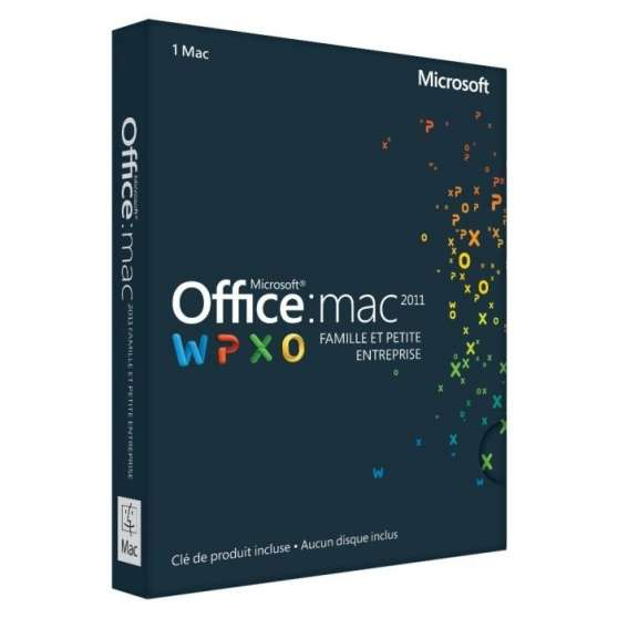 Annonce occasion, vente ou achat 'Vends Pack office mac 2011 neuf'