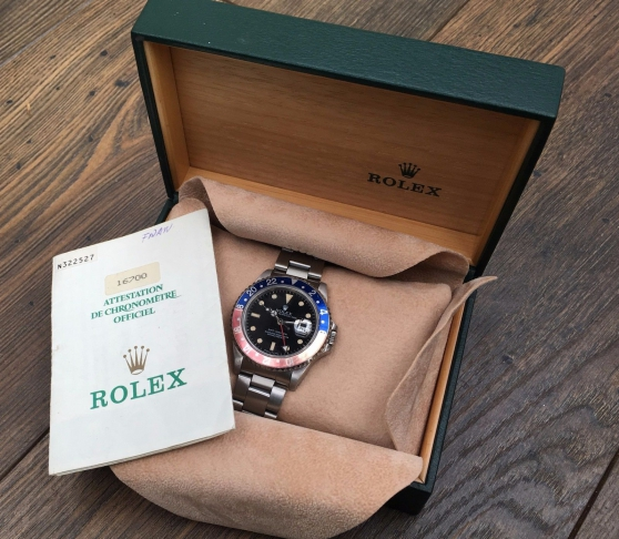 1991 ROLEX GMT 16700 WITH BOX AND PAPERW - Photo 2