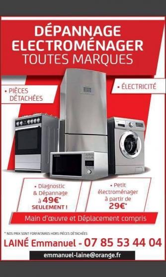 Petite Annonce : Dépannage électroménager - DÉPANNAGE / RÉPARATION ÉLECTROMÉNAGER AU MEILLEUR PRIX ! Ne jetez