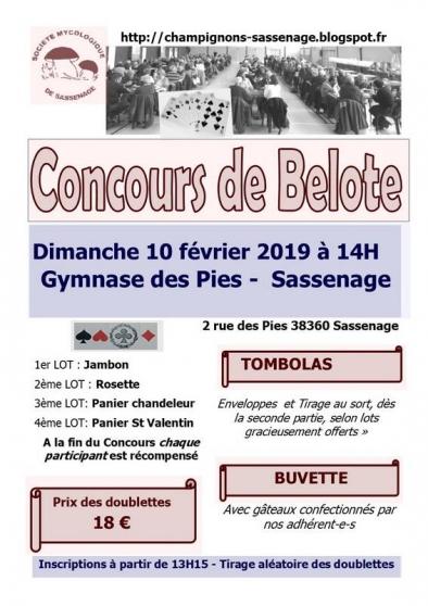 concours de belote le 10 février 2019 - Annonce gratuite marche.fr