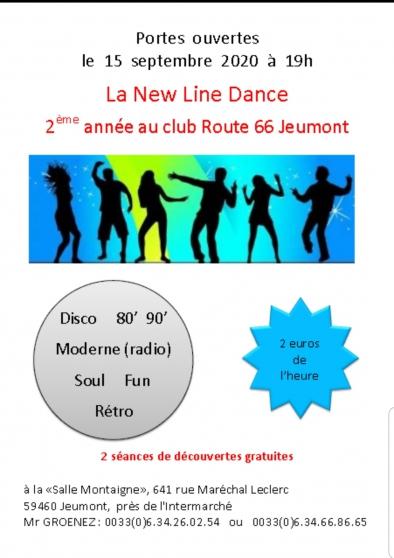 Cours de danse en ligne. New line Dance