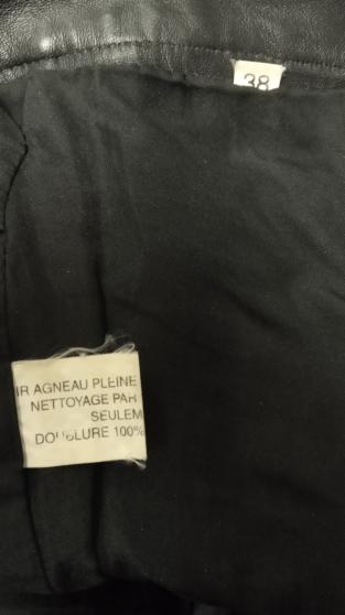 pantalon cuir agneaux taille 38 - Photo 3