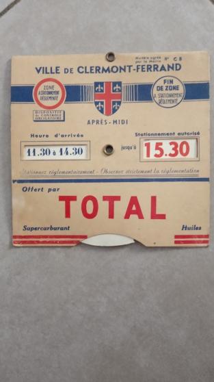 Annonce occasion, vente ou achat 'Total Ancien disque de stationnement'