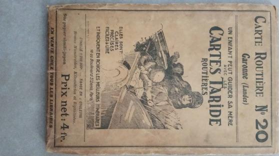 Annonce occasion, vente ou achat 'Ancienne carte routière taride'