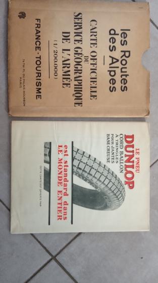Annonce occasion, vente ou achat 'Dunlop ancienne carte routière'