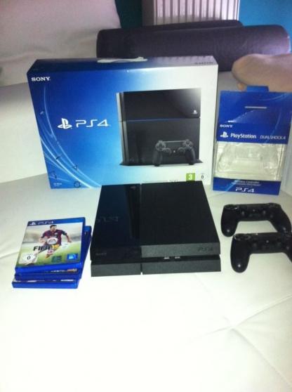 PlayStation 4 PS4, 2 dualshock et 3 Jeux