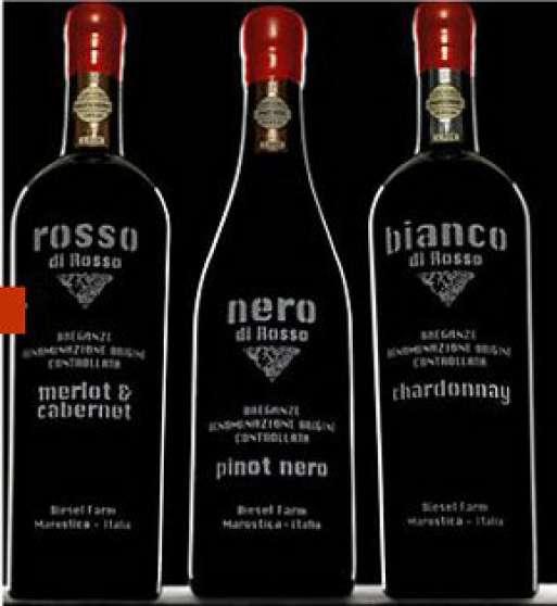 Bouteille de vin Diesel fashion