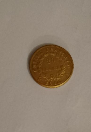 Pièce 20 francs Napoléon 1814 A