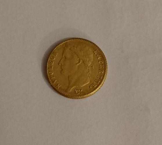 Pièce 20 francs Napoléon 1814 A - Photo 2