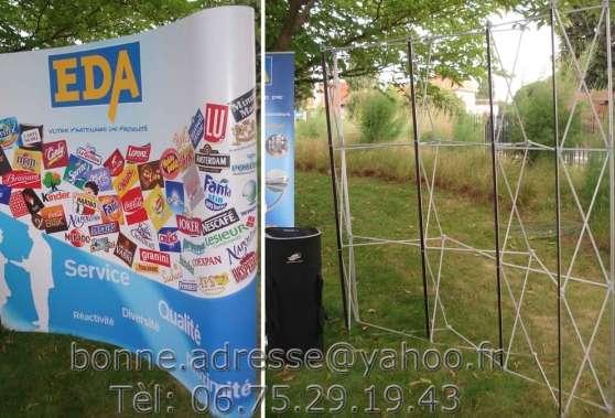 Stand exposition salon parapluie pliable professionnels for Stand parapluie occasion