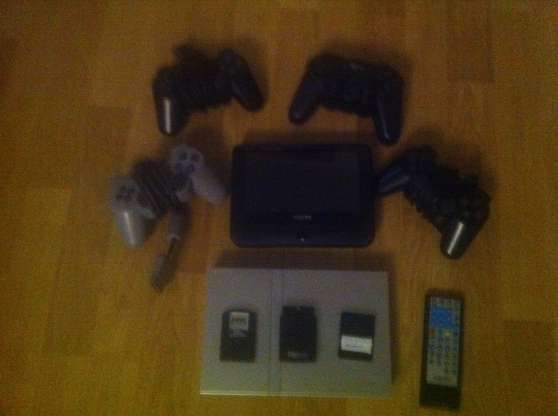 TV Portable + PS2 Slim et 4 Manettes