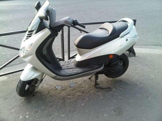elystar blanc nacr 50 cc excellent tat paris moto scooter v lo peugeot mobylettes. Black Bedroom Furniture Sets. Home Design Ideas
