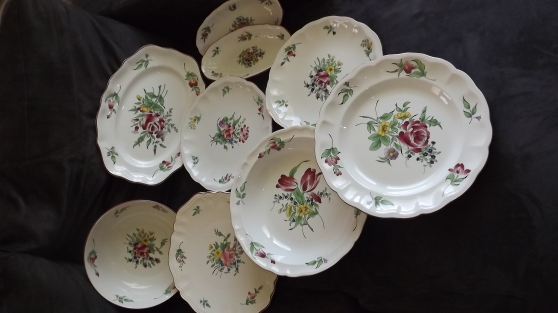 lot de plat porcelaine de luneville