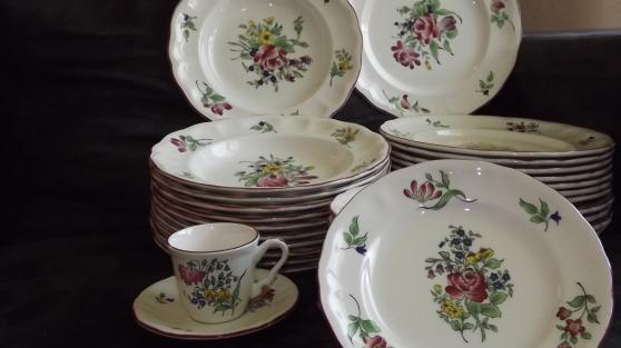 service de table porcelaine de Luneville