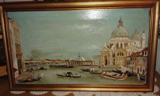 Peinture huile sur toile vue de Venise