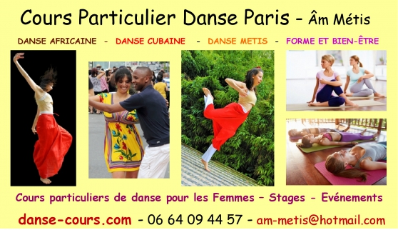 Annonce occasion, vente ou achat 'COURS PARTICULIER DE DANSE A PARIS'