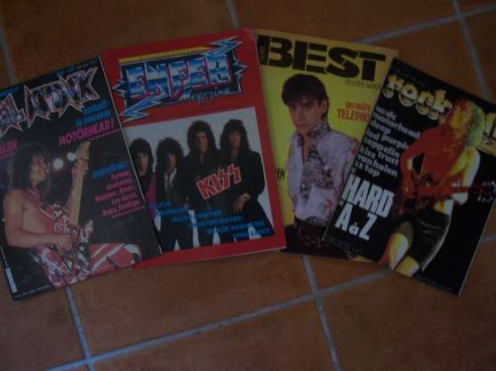 lot magazines ROCK AND FOLK, METAL ATTAC