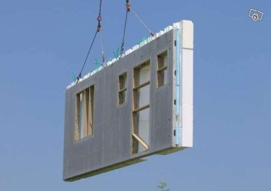 Mur pr fabriqu compos de b ton bois mat riaux de for Prix materiaux construction maison