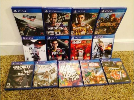 PS4 Neuf scellé Accessoires 13 Jeux neuf
