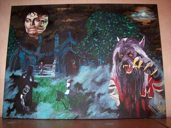 Michael Jackson thriller paint