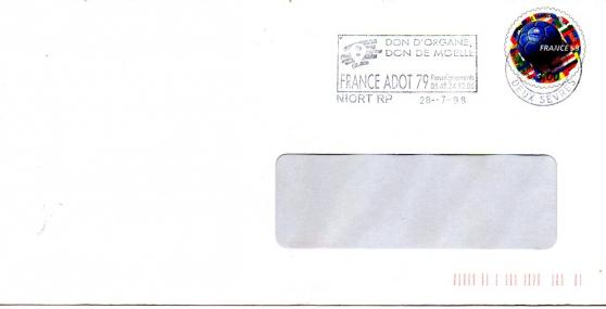Enveloppe pré-timbrée 1998