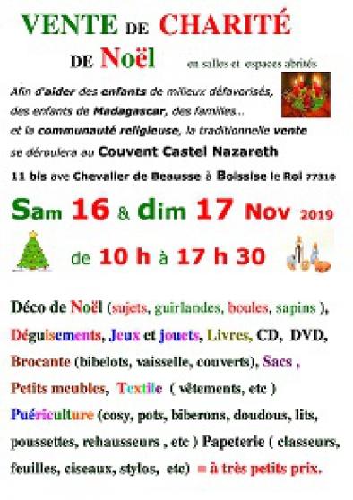 Annonce occasion, vente ou achat 'Vente de charité de Noël'