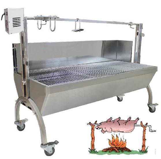 BBQ GRILL INOX BROCHE MECHOUI