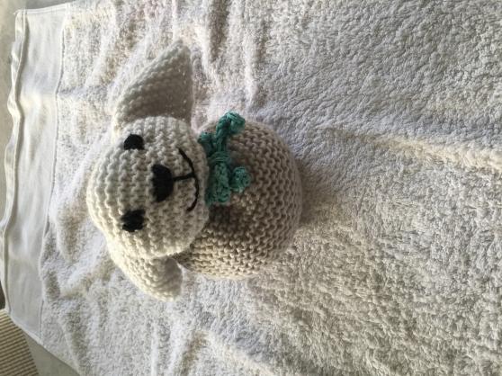 lapin tricoté main point mousse