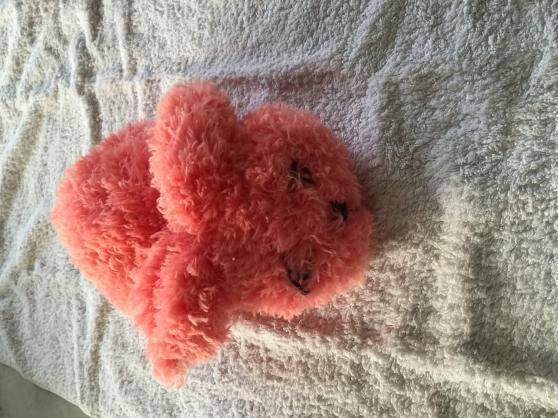 lapin fourrure rose très doudou tricot