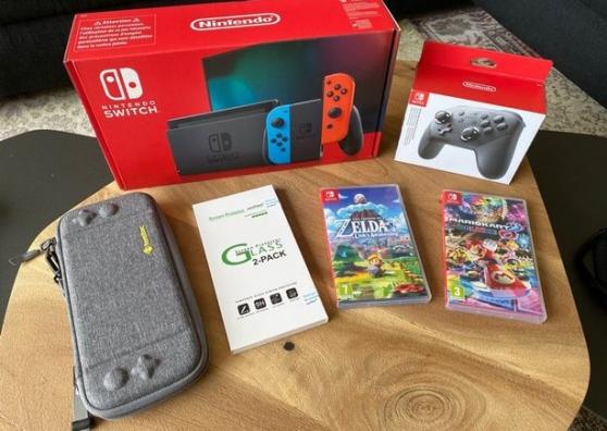 Nintendo Switch V2 avec jeux et accessoi
