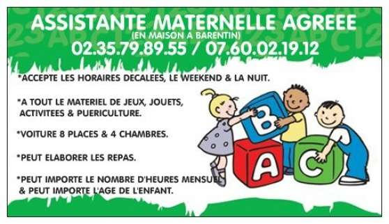 assistante maternelle agreee - barentin - Annonce gratuite marche.fr