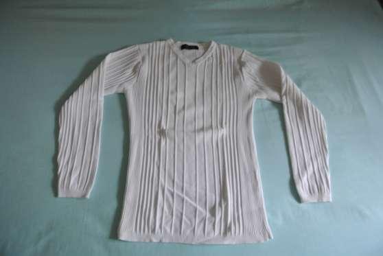 pull blanc Armand Thierry