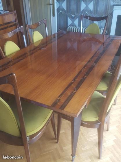 Petite Annonce : Salle à manger art deco: esemble table + - Très bel ensemble en bois precieux de style art de co avec détails de