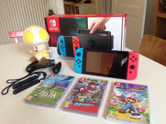 Annonce occasion, vente ou achat 'Nintendo switch + 3 jeux occasion'