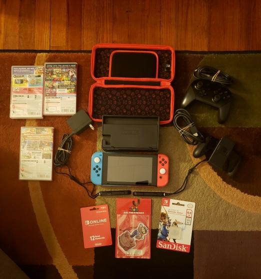 Nintendo Switch Bundle-Console, 3 jeux +