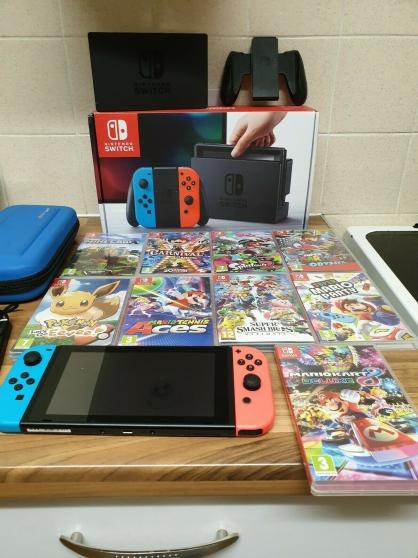 Annonce occasion, vente ou achat 'Nintendo Switch Bundle avec 9 Top Jeux,'
