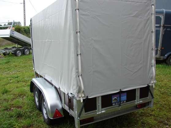 remorque bachée 2 essieux 256x128x150