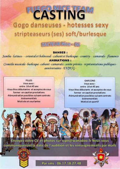 Annonce occasion, vente ou achat 'casting recrutement artistes cabaret'