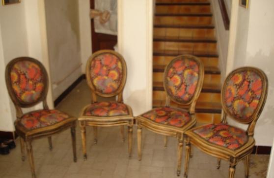 4 Chaises Style Louis XVI