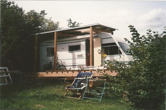 Terrain de loisir avec Camping-car
