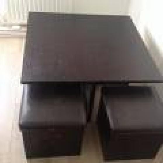 Table Basse Avec 4 Poufs Encastrables Meubles Decoration Tables