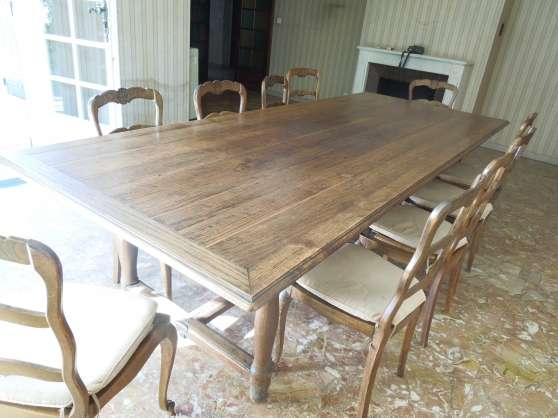 belle table de ferme rustique ancienne. Black Bedroom Furniture Sets. Home Design Ideas