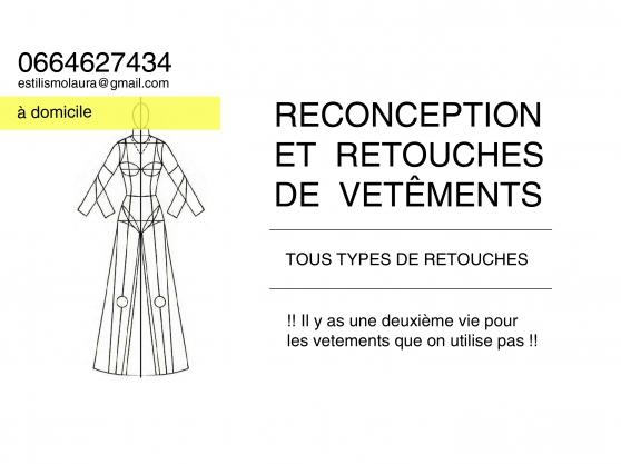 reconception et retouches de vetêments - Annonce gratuite marche.fr