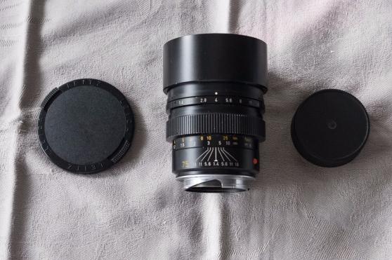 Objectif Leica Summilux M 75 mm f: 1.4
